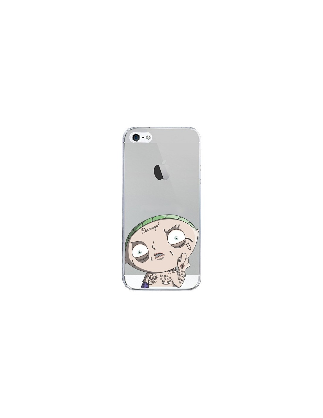 coque stewie joker suicide squad transparente pour iphone 5 5s et se mikadololo. Black Bedroom Furniture Sets. Home Design Ideas
