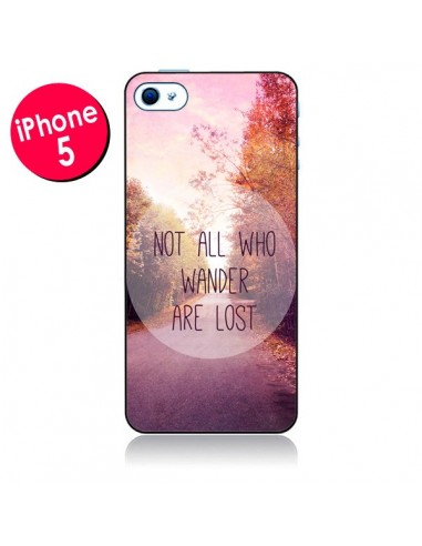 Coque Not all who wander are lost pour iPhone 5 - Sylvia Cook