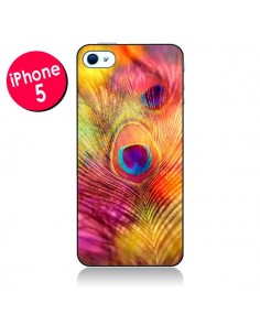 Coque Plume de Paon Multicolore pour iPhone 5 - Sylvia Cook