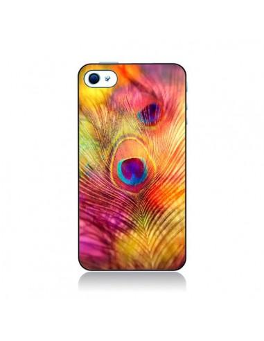 Coque Plume de Paon Multicolore pour iPhone 4 et 4S - Sylvia Cook