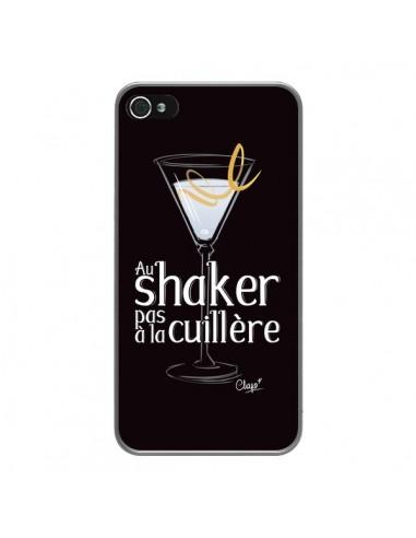 Coque iPhone 4 et 4S Au shaker pas à la cuillère Cocktail Barman - Chapo
