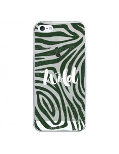 Coque iPhone 5/5S et SE Wild Zebre Jungle Transparente - Lolo Santo