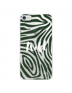 Coque iPhone 7/8 et SE 2020 Wild Zebre Jungle Transparente - Lolo Santo