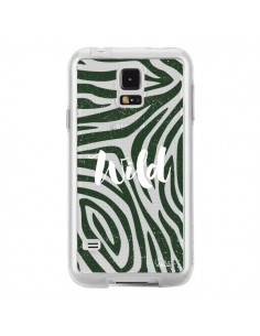 Coque Wild Zebre Jungle Transparente pour Samsung Galaxy S5 - Lolo Santo