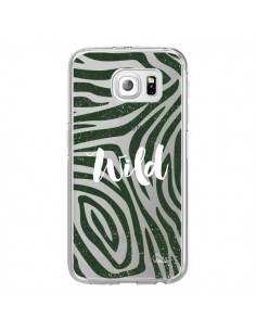 Coque Wild Zebre Jungle Transparente pour Samsung Galaxy S6 Edge - Lolo Santo
