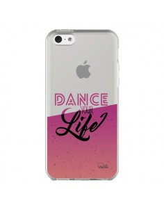 Coque iPhone 5C Dance Your Life Transparente - Lolo Santo