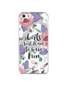 Coque Girls Fun Transparente pour iPhone 5C - Lolo Santo