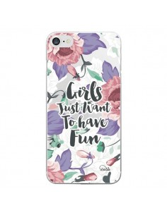 Coque iPhone 7/8 et SE 2020 Girls Fun Transparente - Lolo Santo