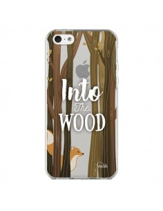 Coque iPhone 5C Into The Wild Renard Bois Transparente - Lolo Santo