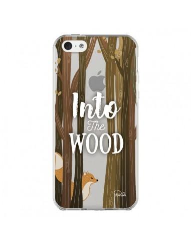Coque Into The Wild Renard Bois Transparente pour iPhone 5C - Lolo Santo
