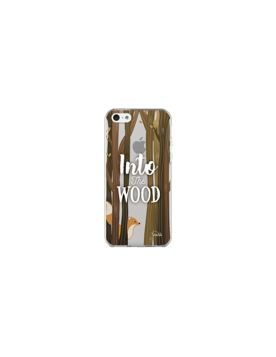 Coque into the wild renard bois transparente pour iphone for Peinture transparente pour bois