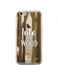 Coque iPhone 6 et 6S Into The Wild Renard Bois Transparente - Lolo Santo