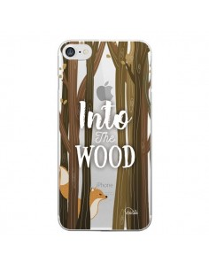 Coque iPhone 7/8 et SE 2020 Into The Wild Renard Bois Transparente - Lolo Santo