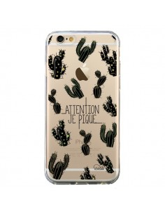 Coque iPhone 6 et 6S Cactus Je Pique Transparente - Lolo Santo