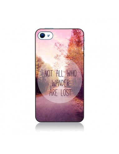 Coque Not all who wander are lost pour iPhone 4 et 4S - Sylvia Cook