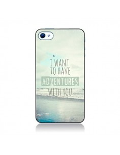Coque I want to have adventures with you pour iPhone 4 et 4S - Sylvia Cook