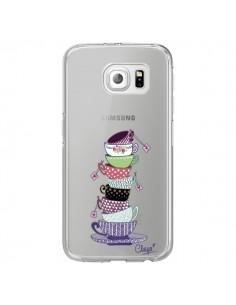 Coque Tasses de The Transparente pour Samsung Galaxy S6 Edge - Chapo