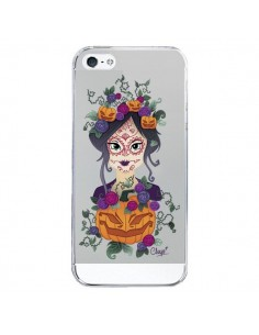 Coque Femme Closed Eyes Santa Muerte Transparente pour iPhone 5/5S et SE - Chapo