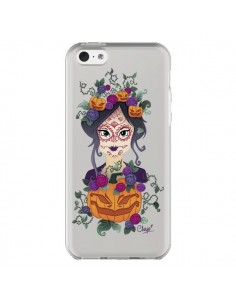 Coque Femme Closed Eyes Santa Muerte Transparente pour iPhone 5C - Chapo