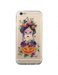 Coque Femme Closed Eyes Santa Muerte Transparente pour iPhone 6 et 6S - Chapo
