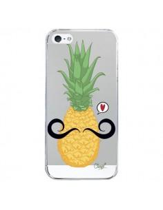 Coque Ananas Moustache Transparente pour iPhone 5/5S et SE - Chapo