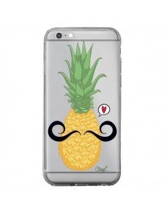 Coque iPhone 6 Plus et 6S Plus Ananas Moustache Transparente - Chapo