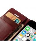 Etui Portefeuille Simili Cuir Luxe pour iPhone 5C
