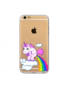 Coque Licorne Caca Arc en Ciel Transparente en silicone semi-rigide TPU pour iPhone 5C