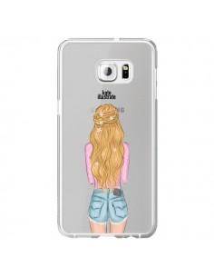 Coque Blonde Don't Care Transparente pour Samsung Galaxy S6 Edge Plus - kateillustrate