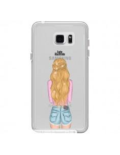 Coque Blonde Don't Care Transparente pour Samsung Galaxy Note 5 - kateillustrate