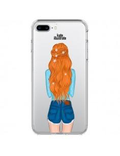 Coque Red Hair Don't Care Rousse Transparente pour iPhone 7 Plus - kateillustrate