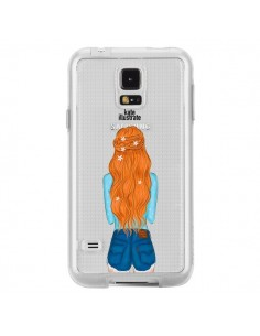 Coque Red Hair Don't Care Rousse Transparente pour Samsung Galaxy S5 - kateillustrate