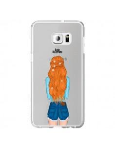 Coque Red Hair Don't Care Rousse Transparente pour Samsung Galaxy S6 Edge Plus - kateillustrate