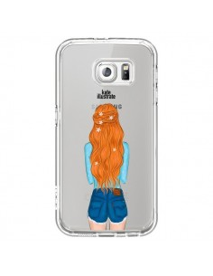 Coque Red Hair Don't Care Rousse Transparente pour Samsung Galaxy S7 - kateillustrate