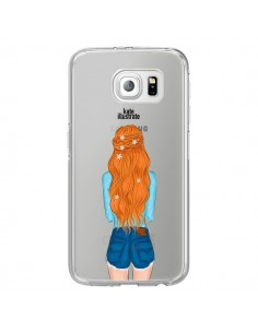 Coque Red Hair Don't Care Rousse Transparente pour Samsung Galaxy S7 Edge - kateillustrate