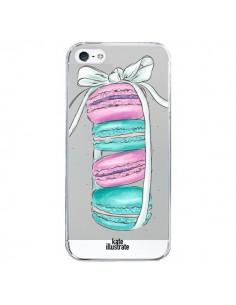 Coque Macarons Pink Mint Rose Transparente pour iPhone 5/5S et SE - kateillustrate