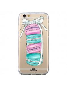 Coque Macarons Pink Mint Rose Transparente pour iPhone 6 et 6S - kateillustrate
