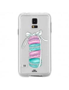 Coque Macarons Pink Mint Rose Transparente pour Samsung Galaxy S5 - kateillustrate