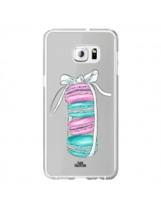 Coque Macarons Pink Mint Rose Transparente pour Samsung Galaxy S6 Edge Plus - kateillustrate