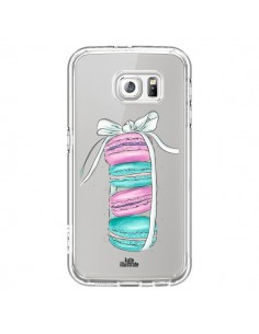 Coque Macarons Pink Mint Rose Transparente pour Samsung Galaxy S7 - kateillustrate
