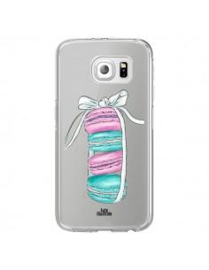 Coque Macarons Pink Mint Rose Transparente pour Samsung Galaxy S7 Edge - kateillustrate