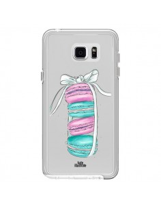 Coque Macarons Pink Mint Rose Transparente pour Samsung Galaxy Note 5 - kateillustrate