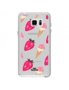 Coque Strawberry Ice Cream Fraise Glace Transparente pour Samsung Galaxy Note 5 - kateillustrate