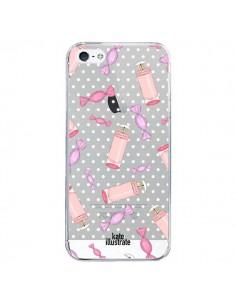 Coque Candy Bonbons Transparente pour iPhone 5/5S et SE - kateillustrate