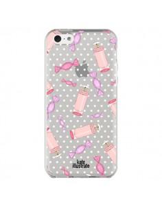 Coque Candy Bonbons Transparente pour iPhone 5C - kateillustrate
