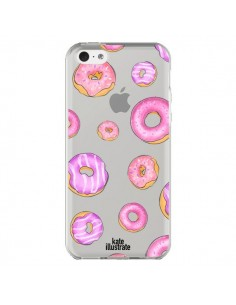 Coque Pink Donuts Rose Transparente pour iPhone 5C - kateillustrate