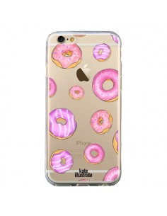 Coque Pink Donuts Rose Transparente pour iPhone 6 et 6S - kateillustrate