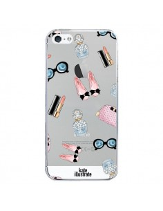 Coque Essential Beautiful Belle Essentiel Transparente pour iPhone 5/5S et SE - kateillustrate