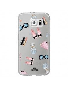 Coque Essential Beautiful Belle Essentiel Transparente pour Samsung Galaxy S6 Edge - kateillustrate