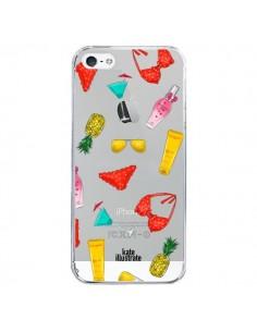 Coque Summer Essentials Ete Essentiel Transparente pour iPhone 5/5S et SE - kateillustrate